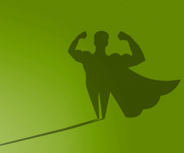 superhero-shadow-on-green-wall