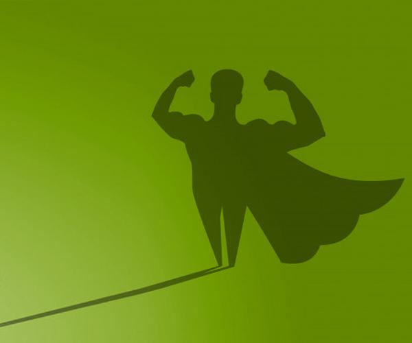 superhero-shadow-on-green-wall