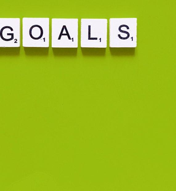 goals-on-green-background
